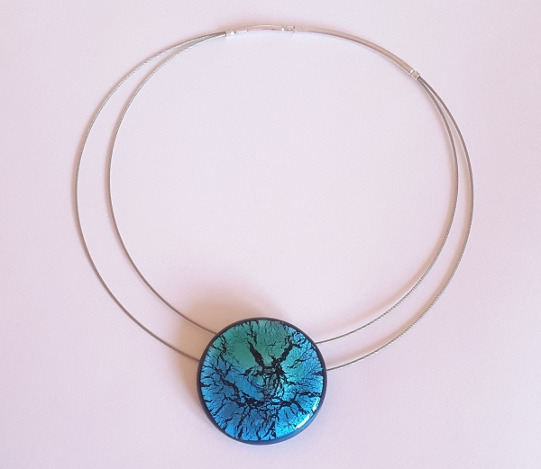 Midnight Moon Halskette XL aqua türkis