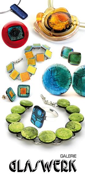exclusiver glasschmuck und modeschmuck aus glas der galerie glaswerk