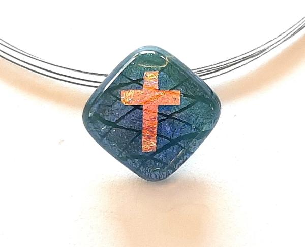 Warp Halskette Small Cross grün