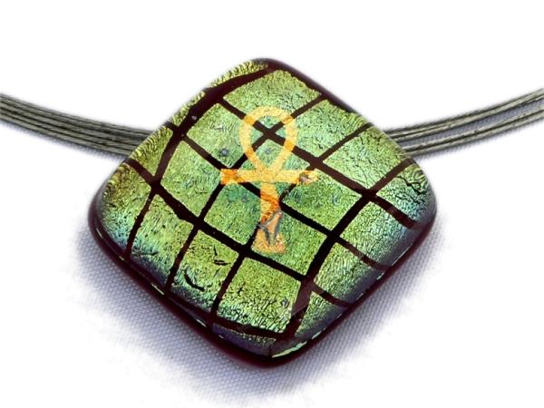 Warp Halskette Small Ankh rot