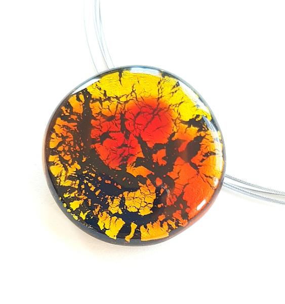 Midnight Moon Halskette rot/orange GHU216