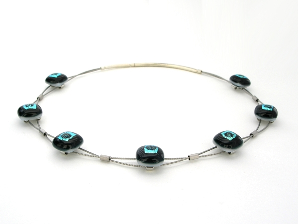 Rave Halskette Sinus dunkelgrün