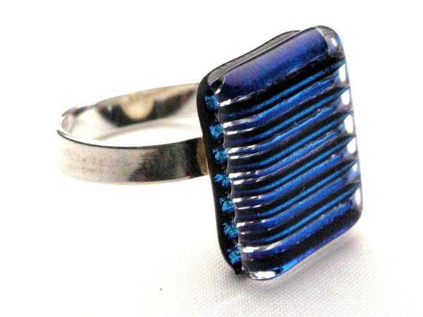 Direct Ring türkis streifen