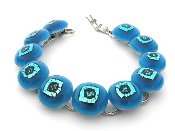 Rave Armkette aqua blau