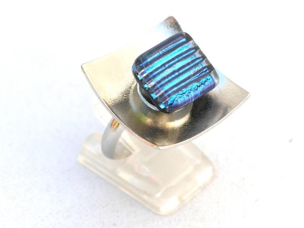 Hip Ring türkis streifen