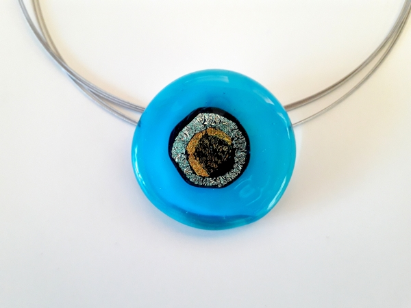 Rave Halskette aqua blau