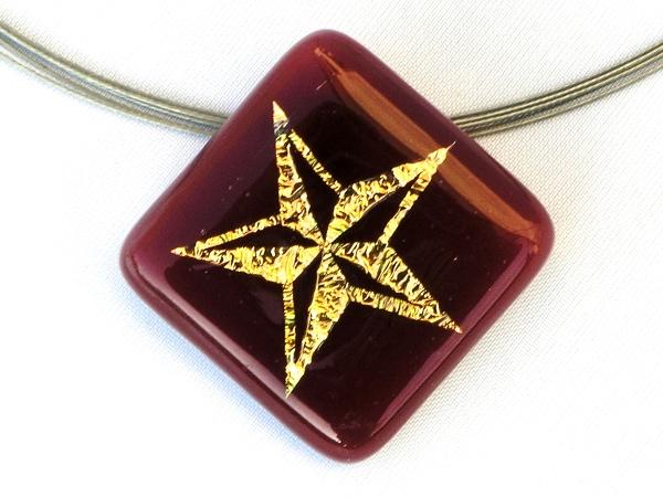 Halskette Star rot