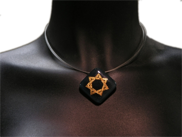 Halskette Heptagramm grün
