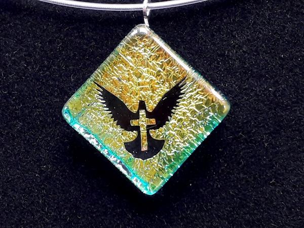 "Halskette ""Taube/Kreuz"" LB GHU 147"