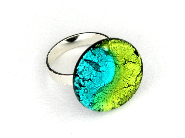 Midnight Ring peridot aqua