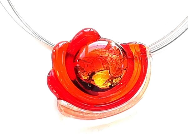 Midnight Sun Halskette rot-orange GHU273