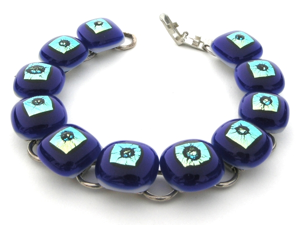 Rave Armkette cobalt blau
