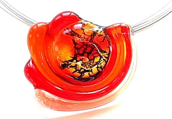 Midnight Sun Halskette rot-orange GHU272