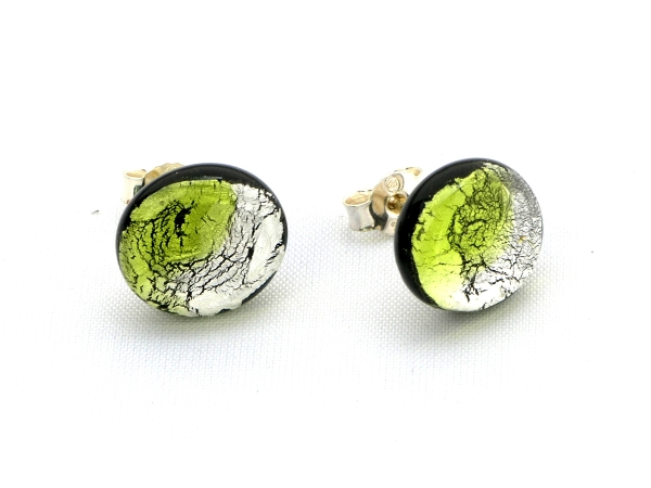 Midnight Moon Ohrstecker peridot silber