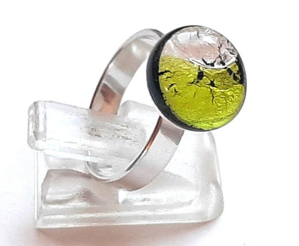 Midnight Ring Mini peridot silber