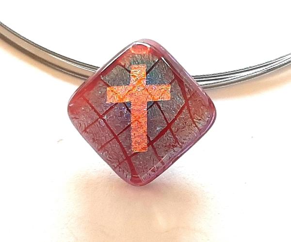 Warp Halskette Small Cross rot