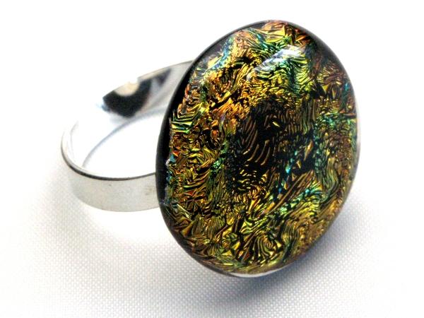 Diround Ring gold orange