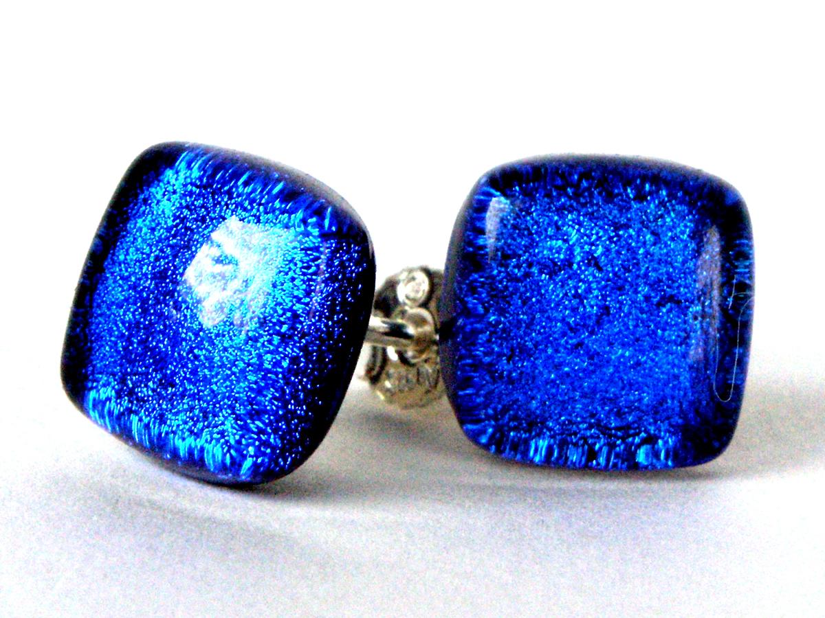 Top Design online hier Einkaufen Direct Ohrstecker blau