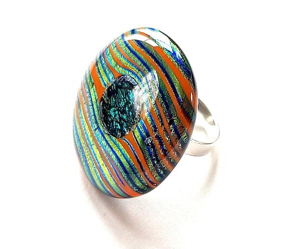 Stripe Ring orange Unikat GHU261