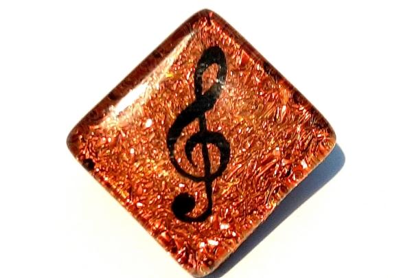 Halskette Notenschlüssel Gold