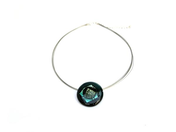 Rave Halskette dunkelgrün