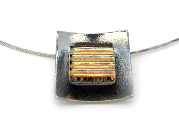 Hip Halskette mini gold streifen