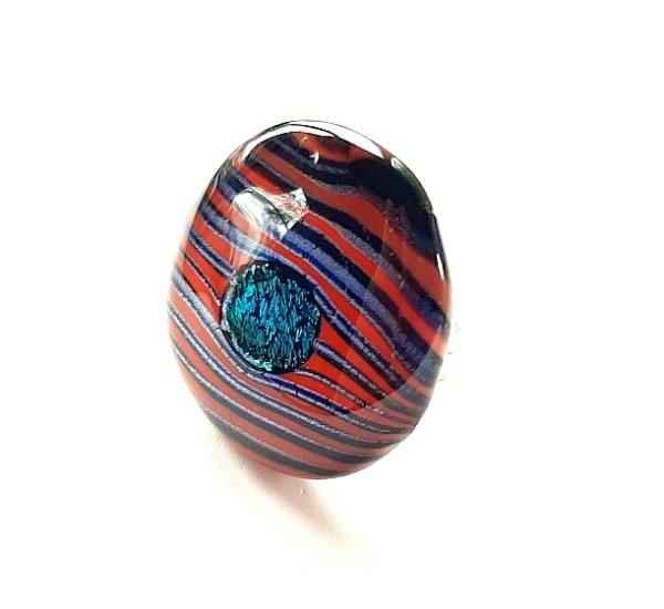 Stripe Ring rot Unikat GHU262