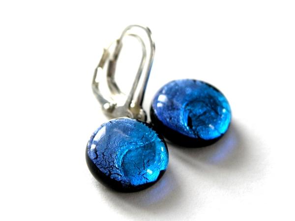 Midnight Ohrhänger rund blau