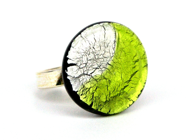 Midnight Ring peridot silber
