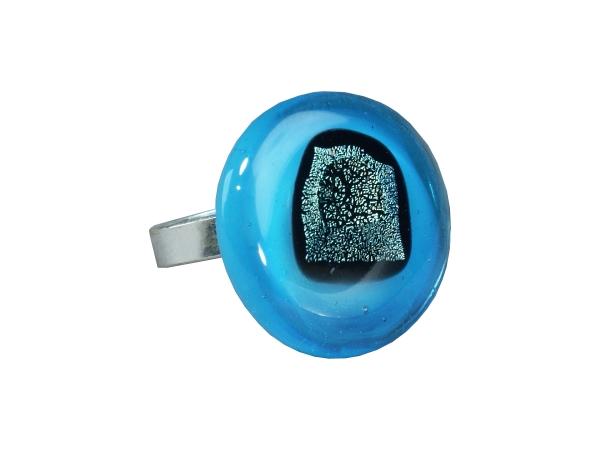 Rave Ring aqua blau