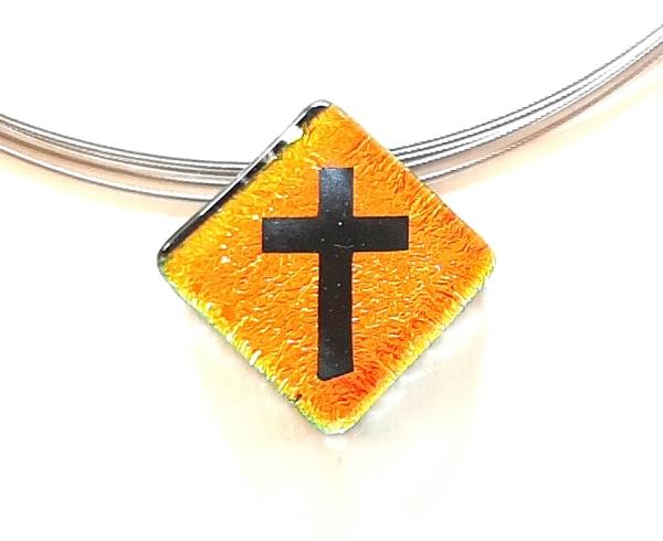 Halskette Kreuz Gold