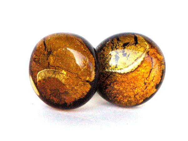 Midnight Moon Ohrstecker gold