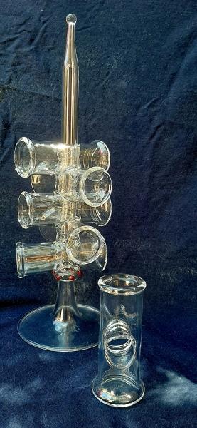 Schnaps Fingerglas Set 6 Stück auf Ständer