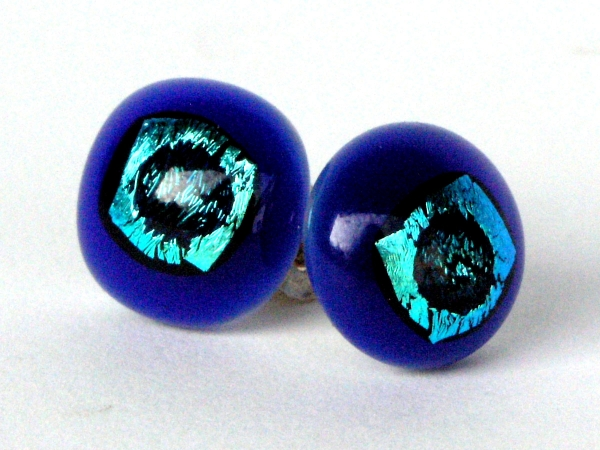 Rave Ohrstecker cobalt blau