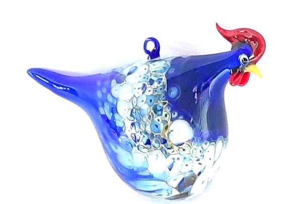 Huhn zum Aufhängen blau