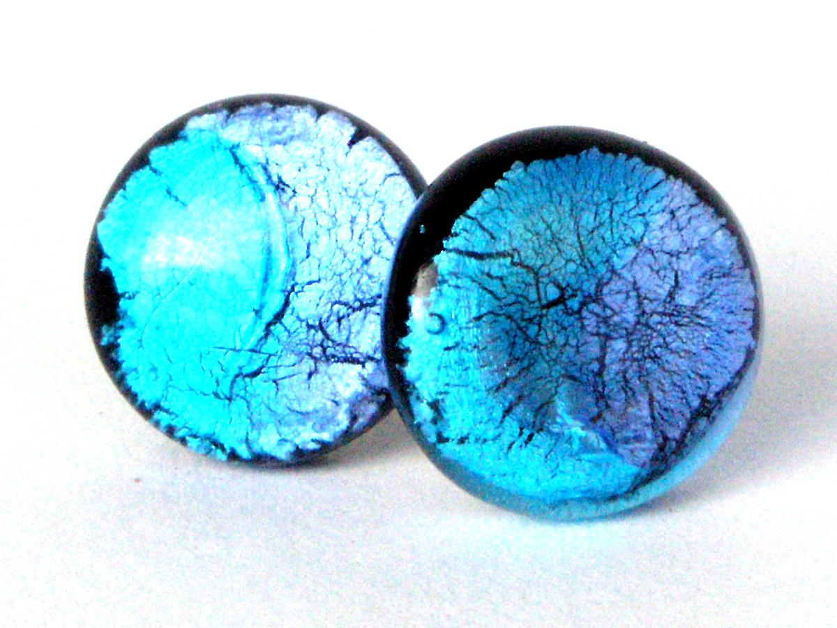 detaillierte Bilder neue Produkte für attraktive Mode Midnight Moon Ohrstecker blau