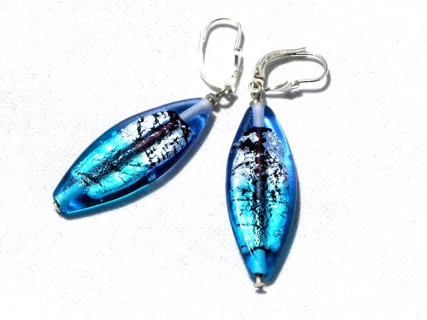 Midnight Ohrhänger lang blau