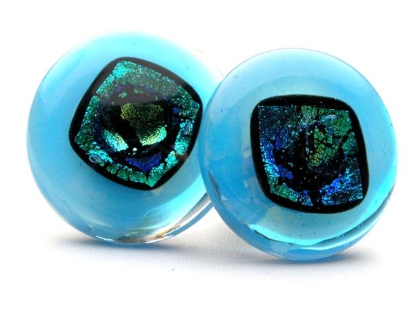 Rave Ohrclips aqua blau
