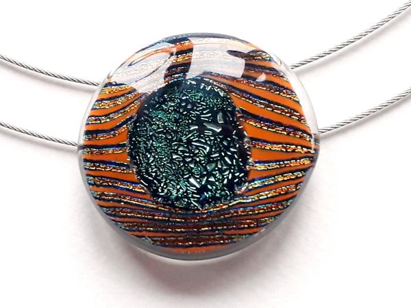 Schmuckunikat Stripe Halskette orange GHU133