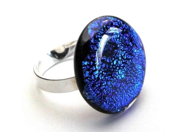 Diround Ring bläulich