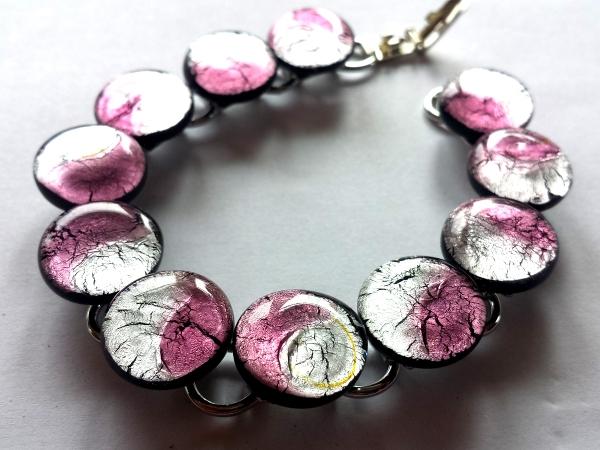 Midnight Armkette rose silber