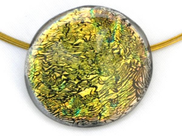 Diround Halskette grünlich