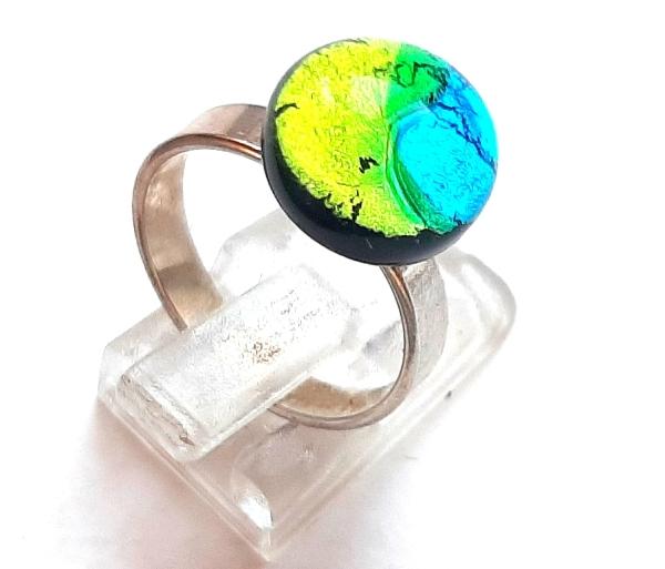 Midnight Ring Mini peridot aqua