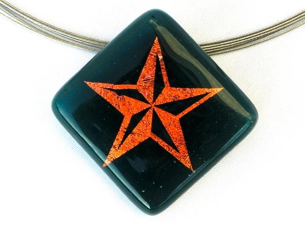 Halskette Star grün