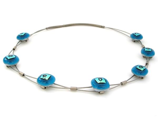 Rave Halskette Sinus aqua blau