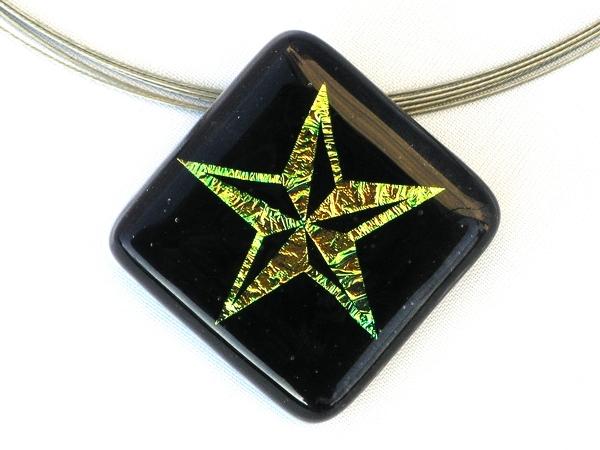 Halskette Star dunkelviolett