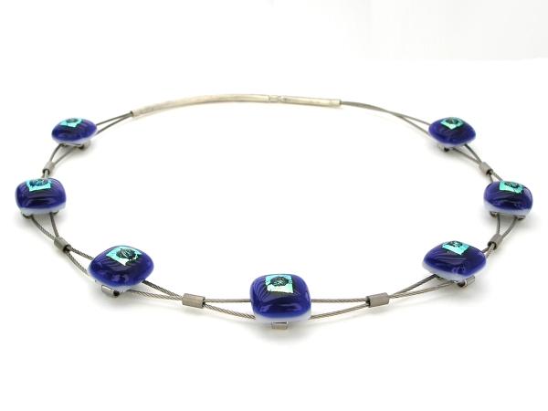 Rave Halskette Sinus cobalt blau