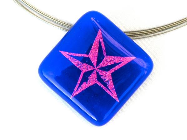 Halskette Star blau